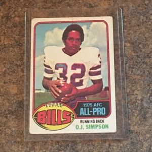 Vintage O.J. Simpson 1975 AFC All-Pro Collector's